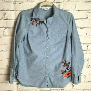 😊 Old Navy Shirt Size Small Top Chambray